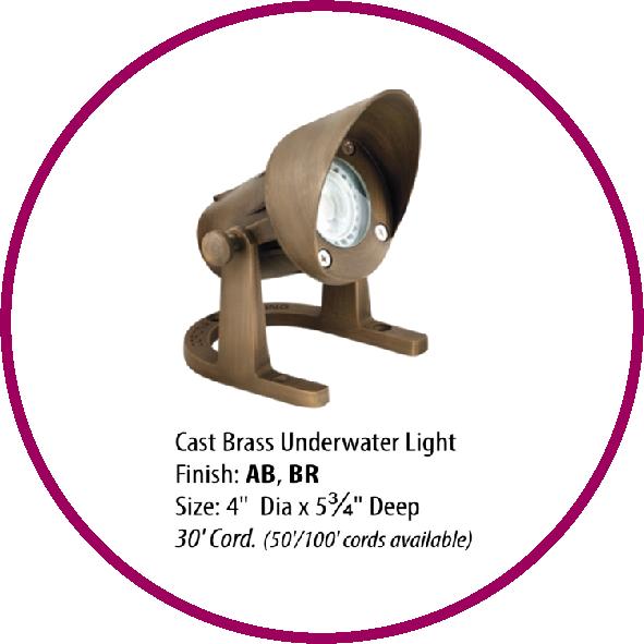 Cast Brass Underwater Light