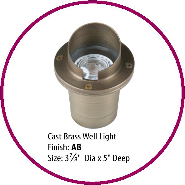 Cast Brass Well Light