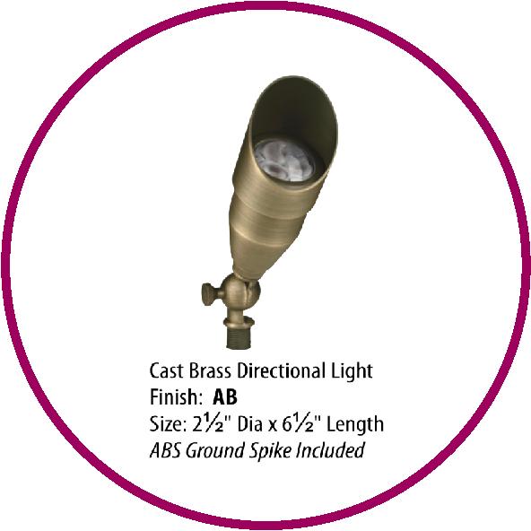 LV Pro Lighting Cast Brass directional light