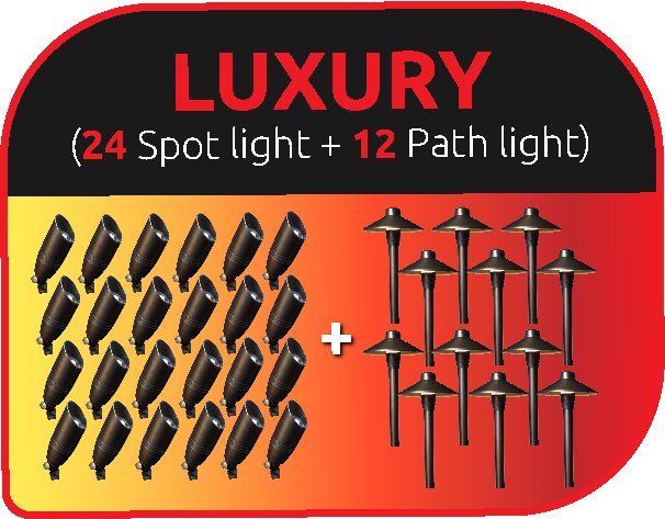 LVpro lighting - Luxury landscape lighting package