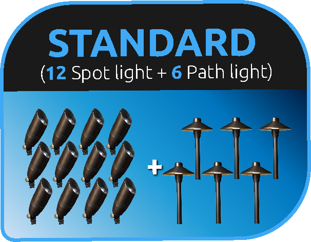 LVpro lighting - Standard landscape lighting package