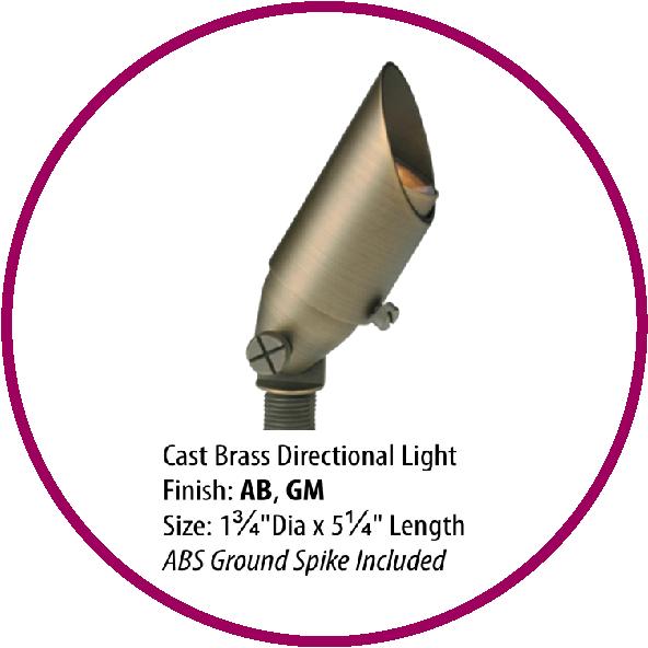 Cast Brass Directional Light