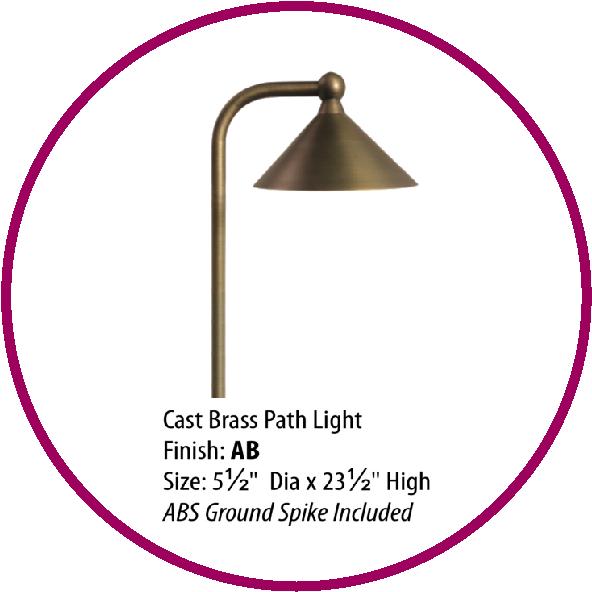 Cast Brass Path Light